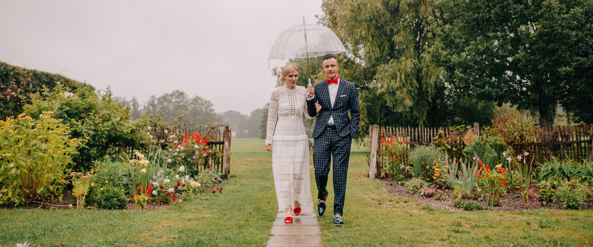 Regen zur Hochzeit, Silberhochzeit im Spreewald, Raphael Kellner, Hochzeitsfotograf, bleiche, resort